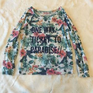 Tropical paradise pullover sweater